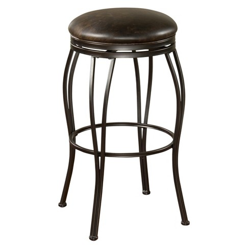 "Romano Swivel Bonded Leather 24"" Counter Stool Metal/Coco/Tobacco - American Heritage Billiards - image 1 of 2"