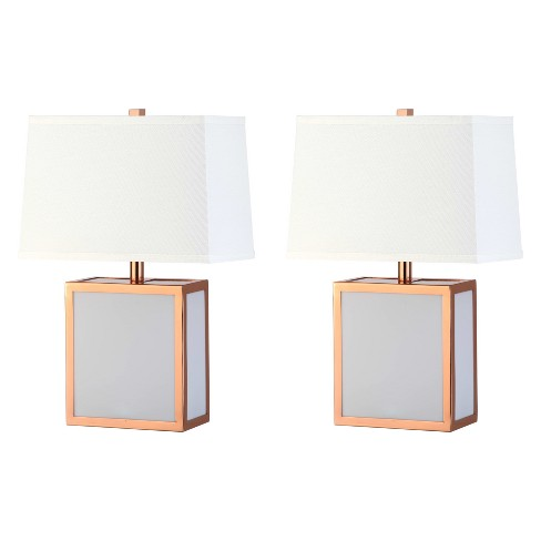 "Sayer Table Lamp Copper/White 13""x7.5"" (Set of 2) - Safavieh - image 1 of 4"