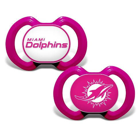 NFL Miami Dolphins Pink Pacifiers 2pk - image 1 of 1