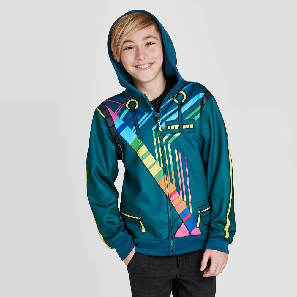 Image of Boys' Fortnite DJ Yonder Sweatshirt - Green L, Boy's, Size: Large