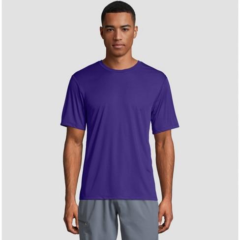 22d2120e Hanes Men's Big & Tall Short Sleeve CoolDRI Performance T-Shirt -Purple 3XL  : Target