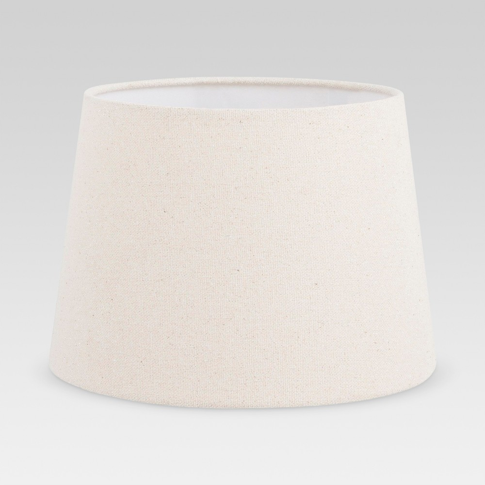 Metallic Linen Lamp Shade Silver - Threshold