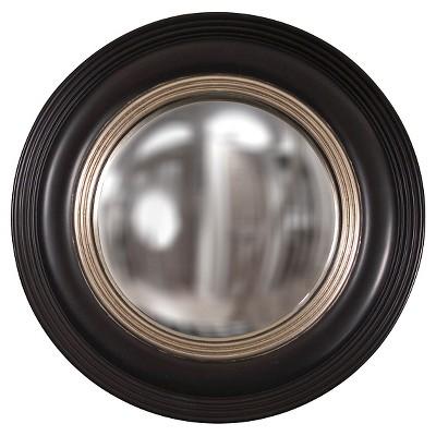 Round Soho Decorative Wall Mirror Black/Light Silver - Howard Elliott
