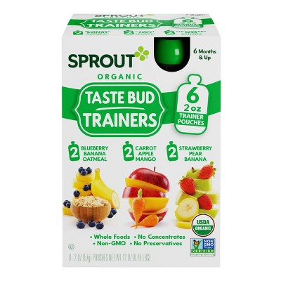 Sprout Foods Organic Flavor Introduction Kit to Fruit Baby Meals - 12oz/6pk