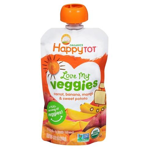 Happy Tot Love My Veggies Carrot Banana Mango & Sweet Potato - 4.22oz - image 1 of 4
