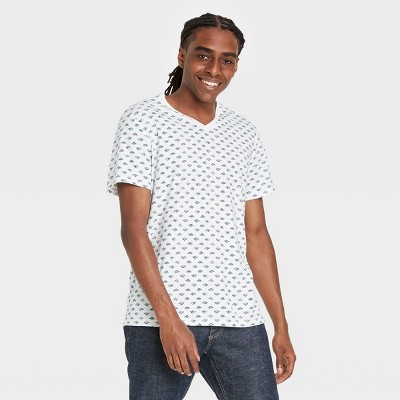 Men's Regular Fit Short Sleeve V-Neck T-Shirt - Goodfellow & Co™