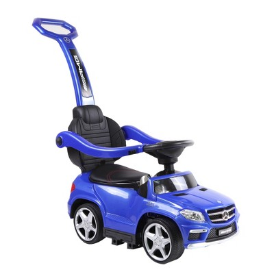 Best Ride On Cars Toddler 4-in-1 Mercedes Push Car Stroller w/ LED Lights