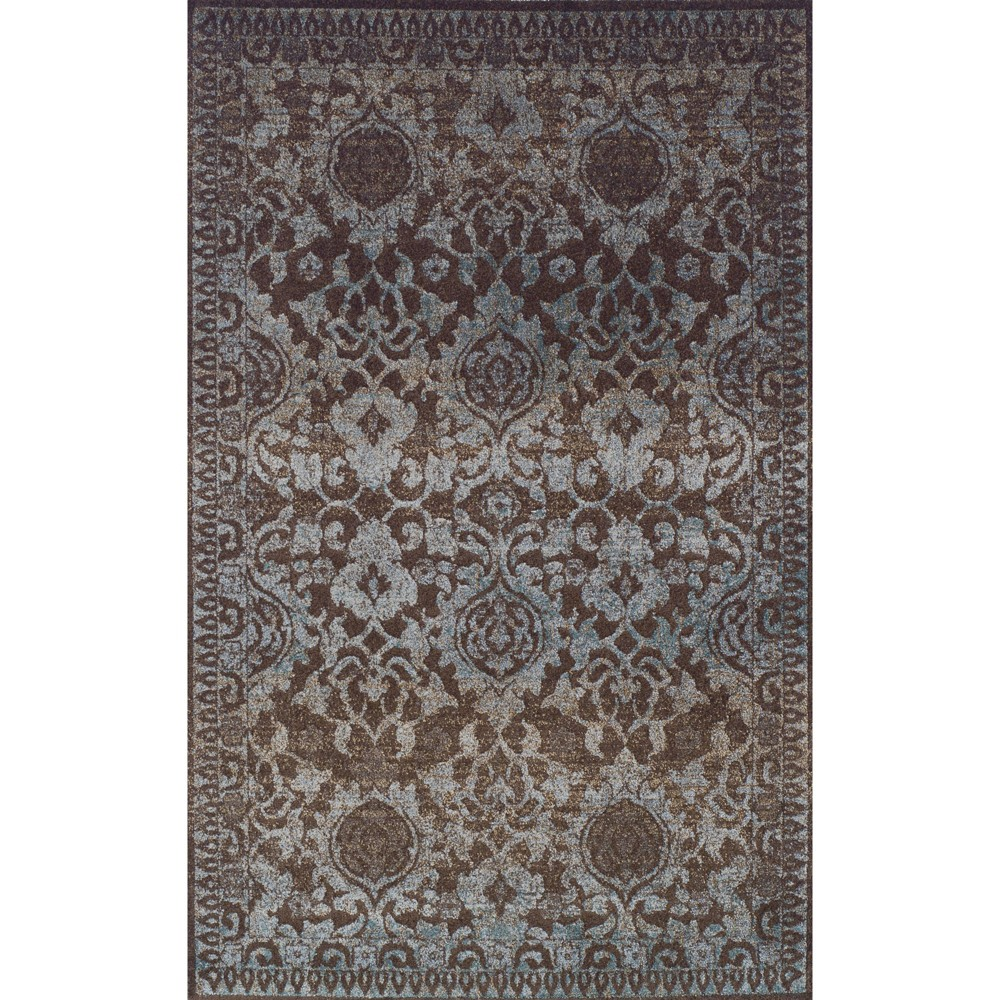 """Image of """"5'3""""""""X7'7"""""""" Chocolate Abstract Woven Area Rug - Addison Rugs, Brown"""""""