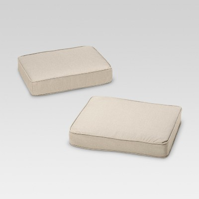 Rolston 2pk Outdoor Replacement Ottoman Cushion - Haven Way