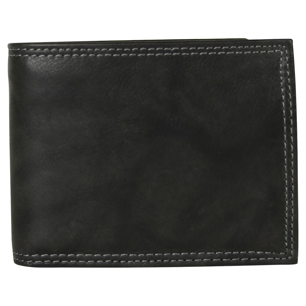 Image of Buxton Men's Hunt Convertible Billfold Wallet - Black, Size: Small
