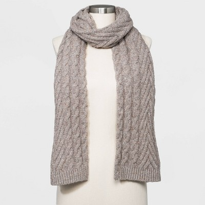 Women's Cable Knit Scarf - Universal Thread™ Oatmeal One Size