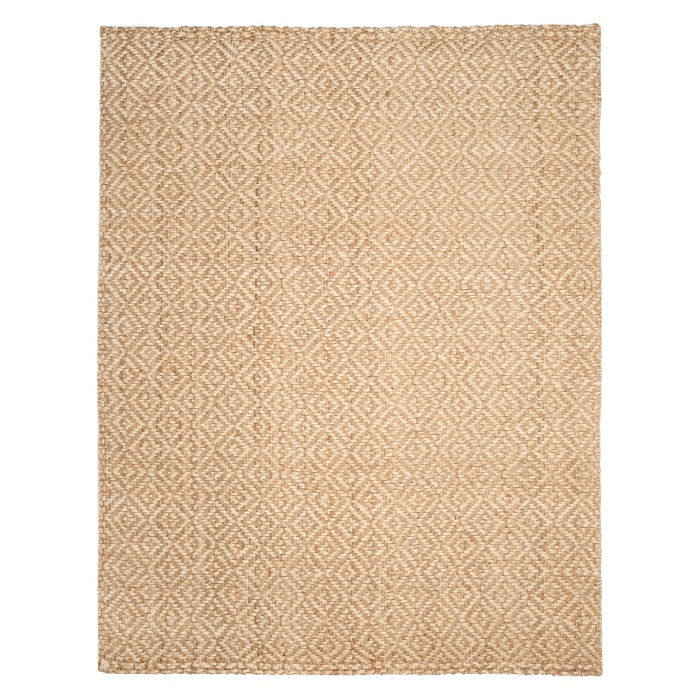 Geometric Woven Area Rug Ivory/Natural