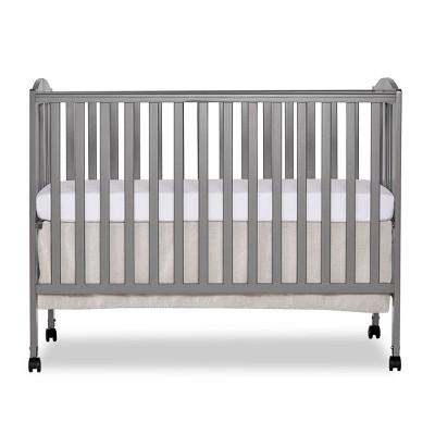 Dream On Me Folding Full Size Crib - Storm Gray