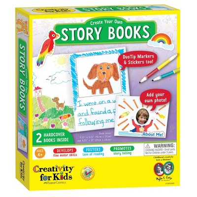 2ct Create Your Own Story Books with DuoTip Markers & Stickers - Creativity for Kids