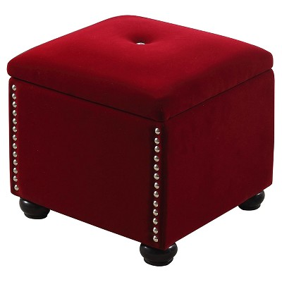 "Storage Bench with Seat 16.5"" - Red - Ore International"