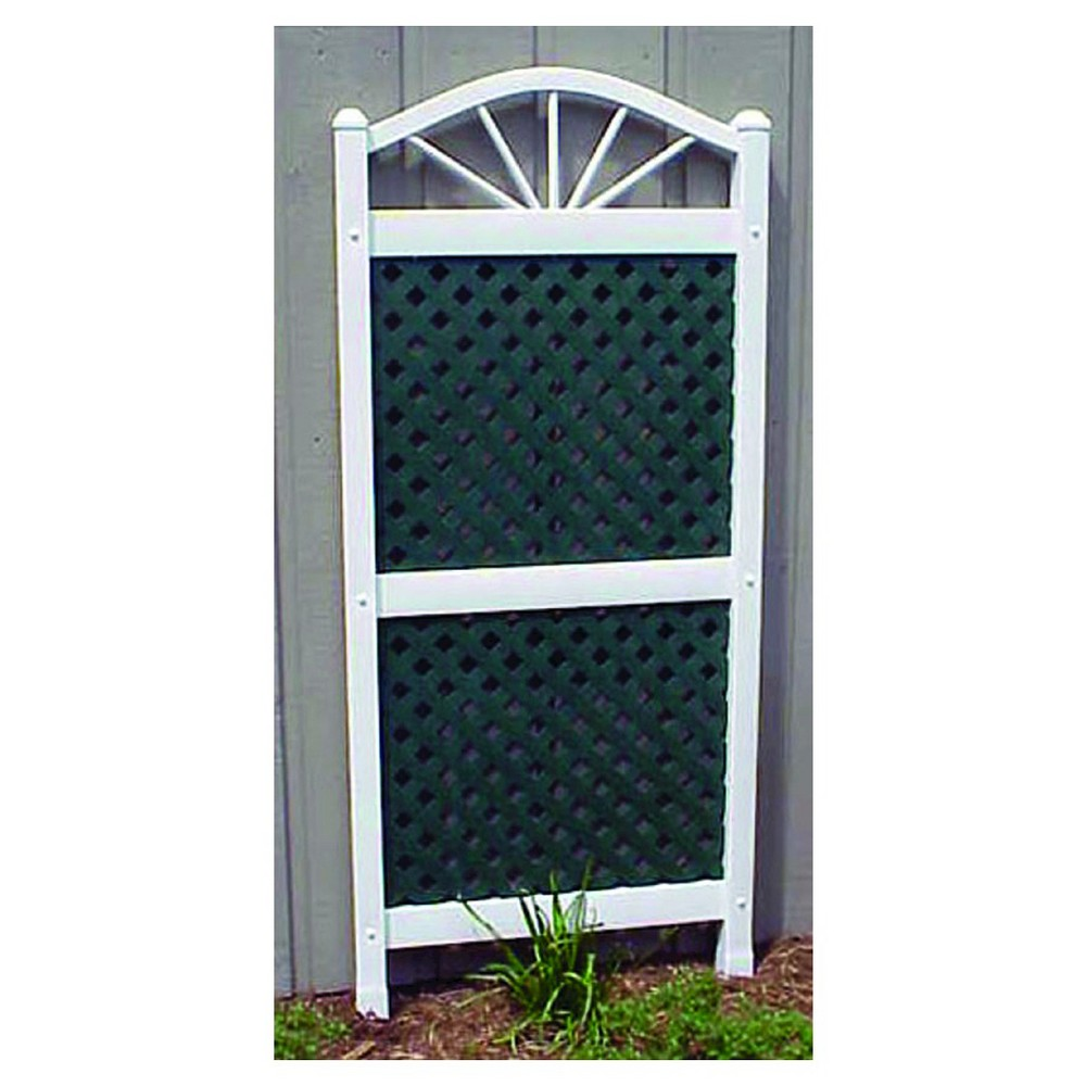 Image of 62 Trellis Garden Decorative Structures - White/ Green - Dura-Trel, White/Green