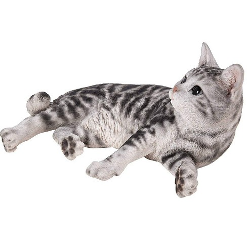 """8"""" Polyresin American Shorthair Cat Laying Down Statue Black - Hi-Line Gift - image 1 of 1"""