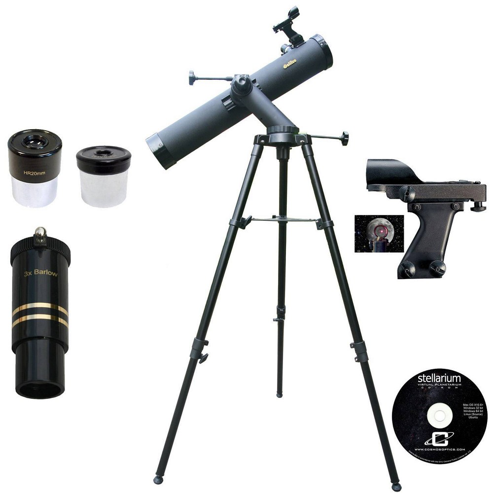 Image of Cassini Galileo G-80080TR 800mm X 80mm Tracker Series Reflector Telescope - Black