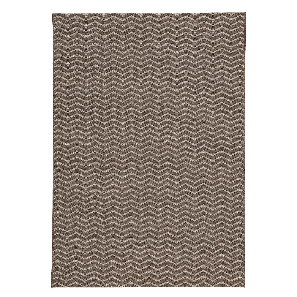 Image of Aster Rectangle 5'X7' Indoor/Outdoor Patio Rug - Gray / Silver - Balta Rugs, Gray Silver
