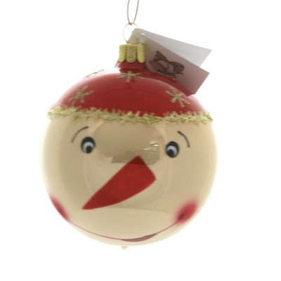 """Golden Bell Collection 3.5"""" Funny Face Snowman Christmas Ornament Ball  -  Tree Ornaments"""