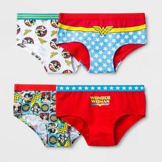 Girls' Wonder Woman 4pk Underwear - 6
