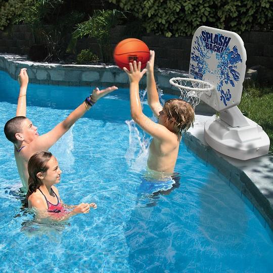 Poolmaster Splashback Competition Poolside Basketball Game image number null