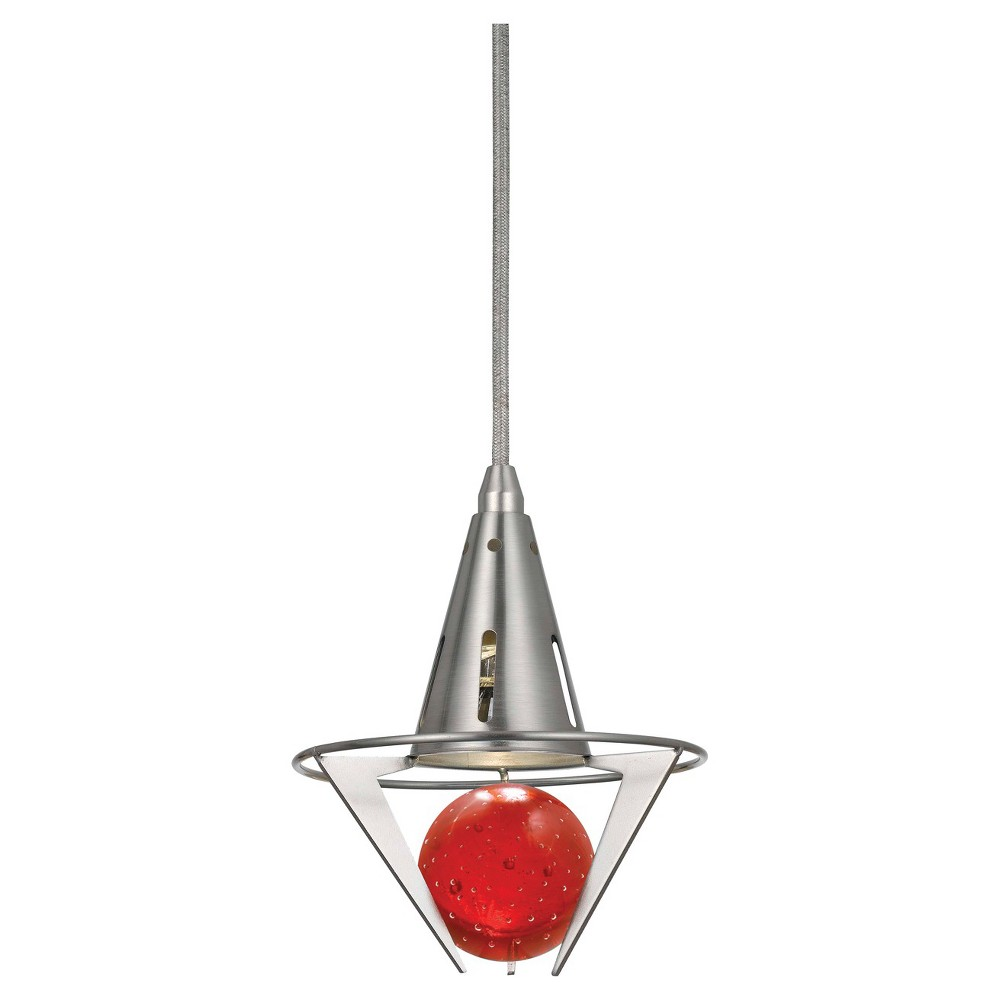 Image of Cal Lighting Dimmable LED pendant with Red Accent