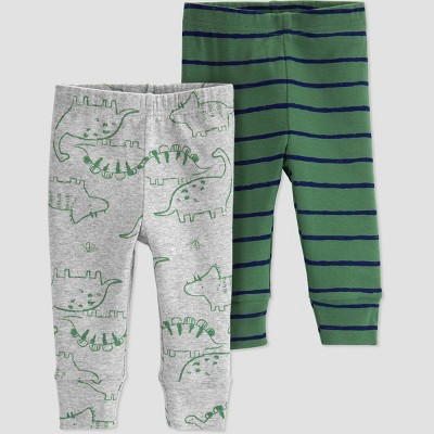 Baby Boys' 2pk Dino Pull-On Pants - Just One You® made by carter's Gray/Green 3M