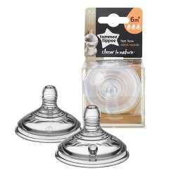 Tommee Tippee Closer To Nature Baby Bottle Nipples - 2pk