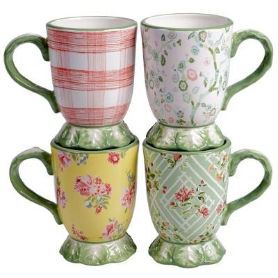 16oz 4pk Earthenware English Garden Mugs - Certified International
