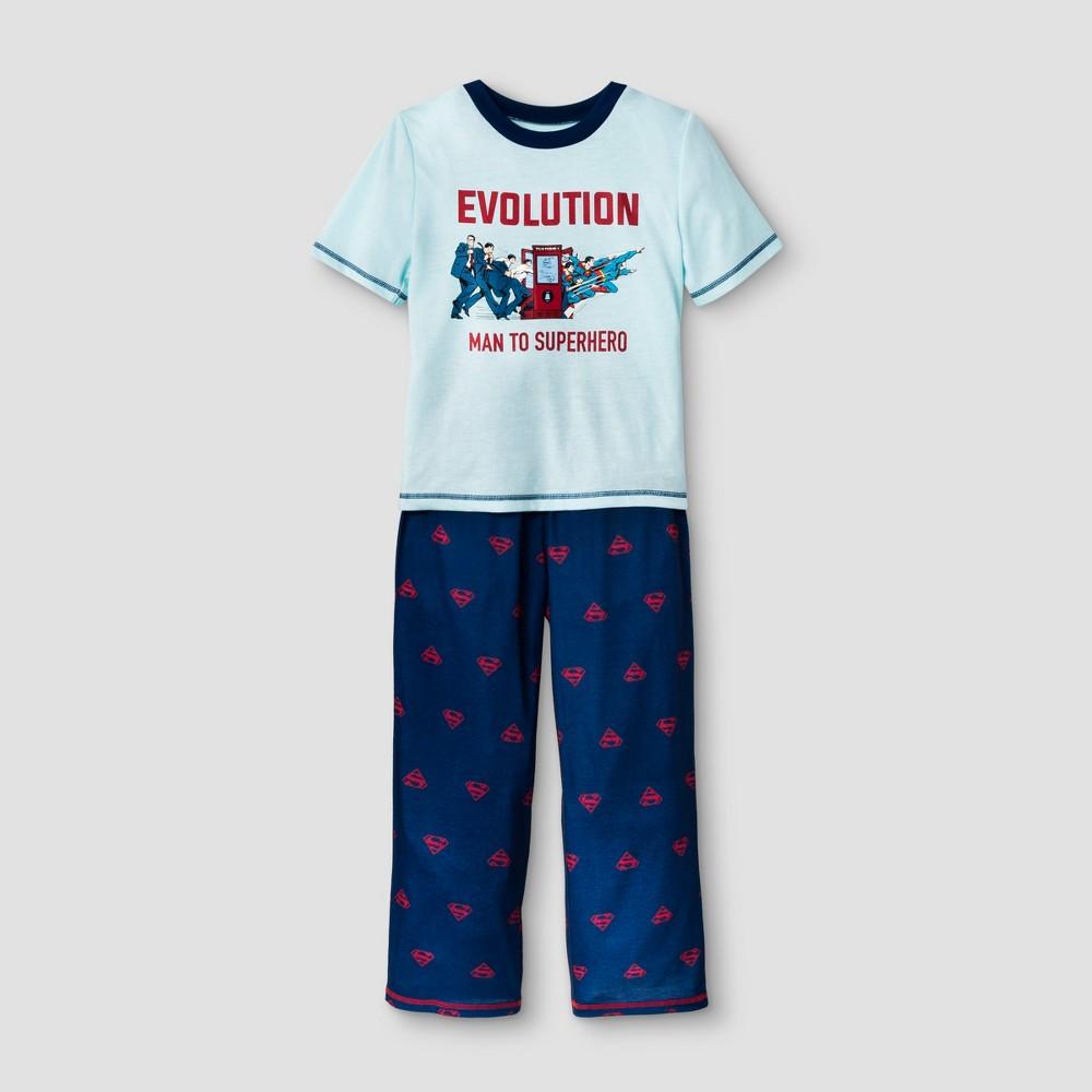 Image of Boys' Superman 2pc Pajama Set - Navy M, Boy's, Size: Medium, Blue