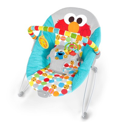 Bright Starts I Spot Elmo! Vibrating Baby Bouncer - Blue