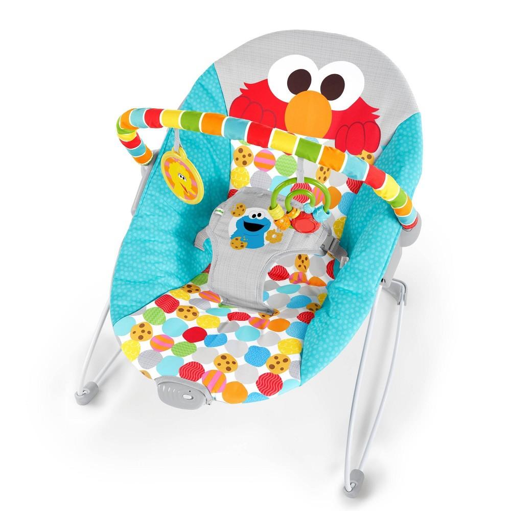 Bright Starts I Spot Elmo Vibrating Baby Bouncer Blue