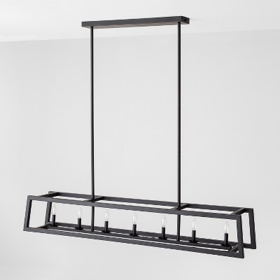 7 Bulb Chandelier - Black - Hearth & Hand™ with Magnolia