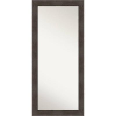 """30"""" x 66"""" William Framed Full Length Floor Leaner Mirror - Amanti Art"""