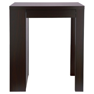 Annemarie Modern Bar Table With Side Wine Storage Cappuccino - HOMES: Inside + Out