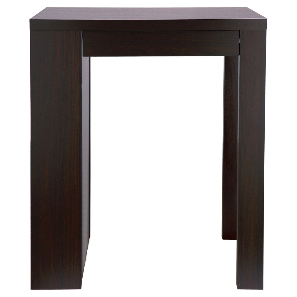 Annemarie Modern Bar Table With Side Wine Storage Cappuccino - Homes: Inside + Out, Dark Brown