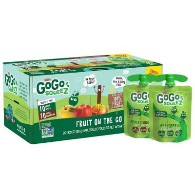 GoGo squeeZ Applesauce, Variety Apple/Cinnamon - 3.2oz/20ct