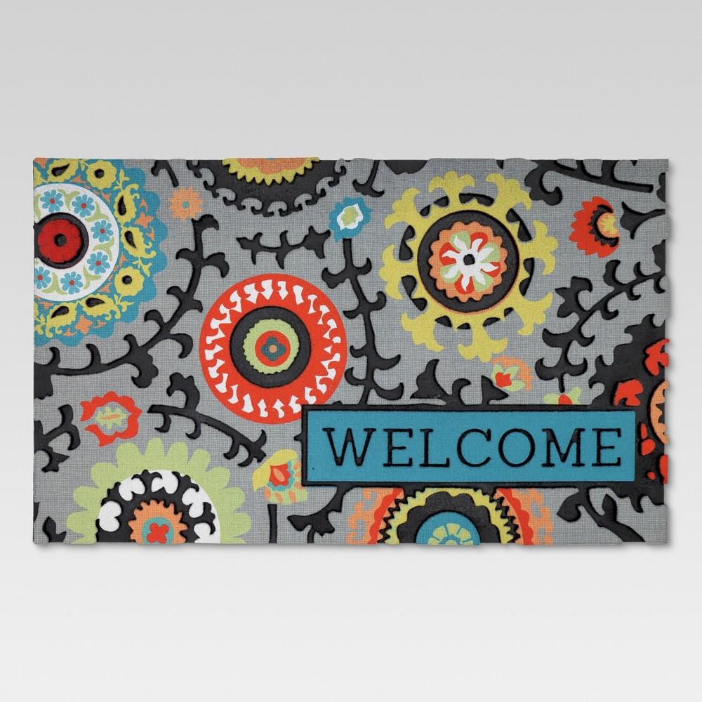Rubber Doormat Welcome