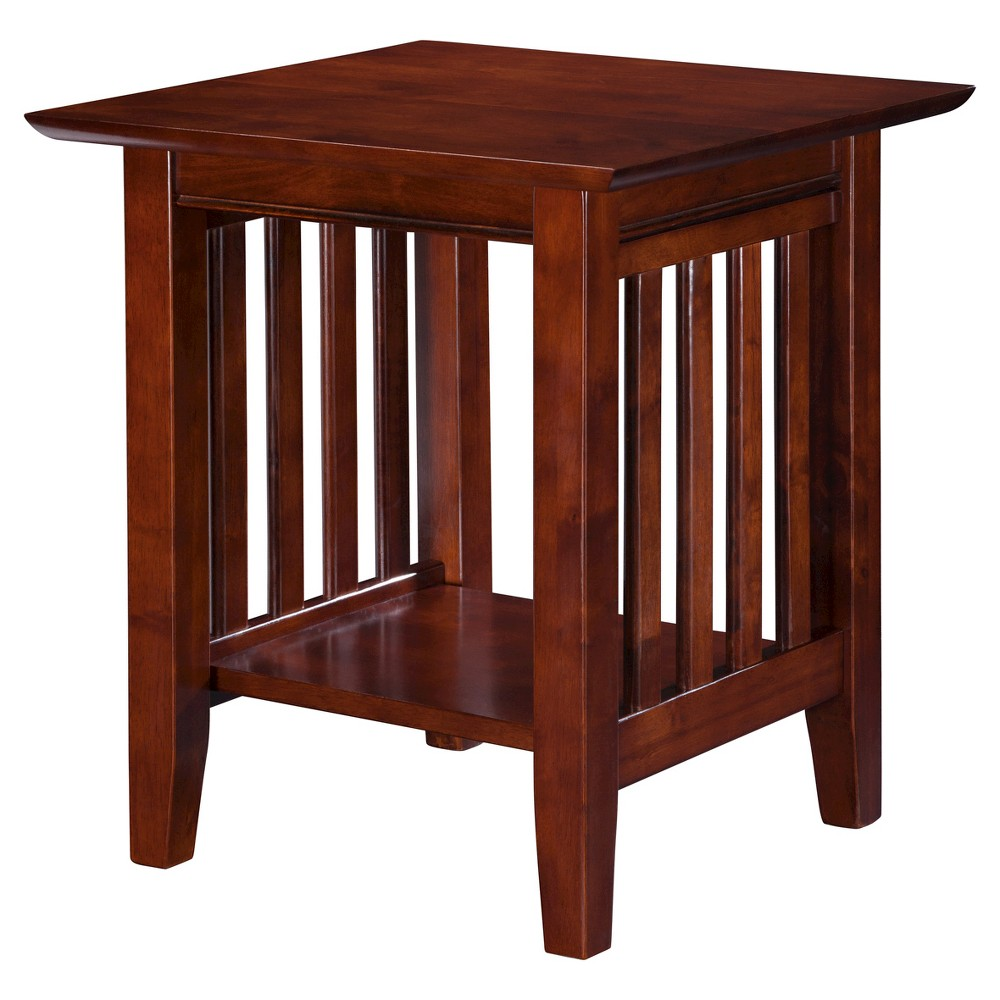 Image of Mission End Table Walnut - Atlantic Furniture, Brown