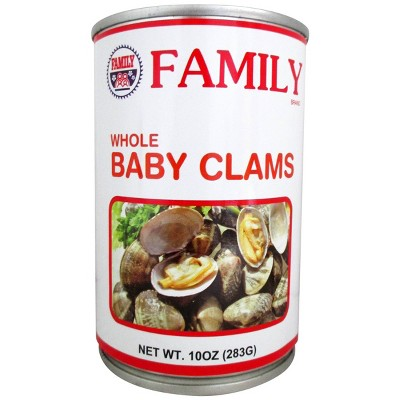 Family Foods Family Boiled Baby Clams - 10oz