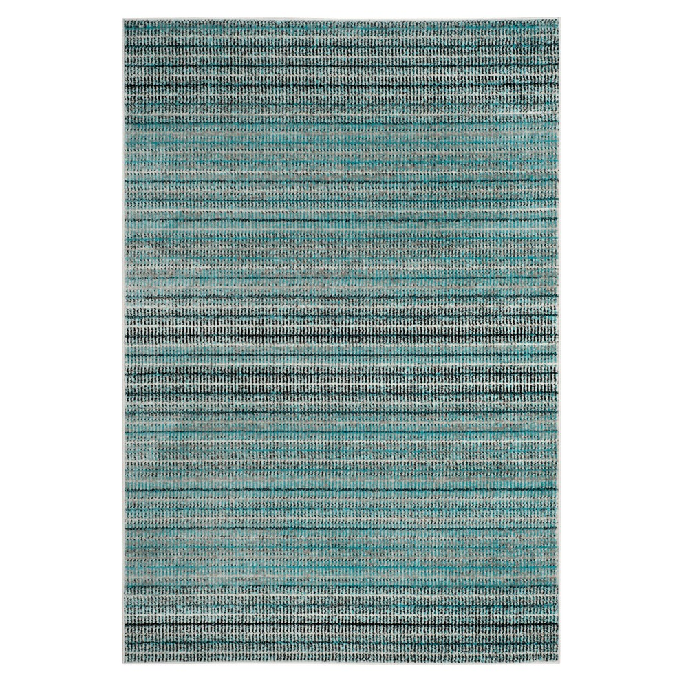 Blue Gray Stripe Loomed Area Rug 9 X12 Safavieh
