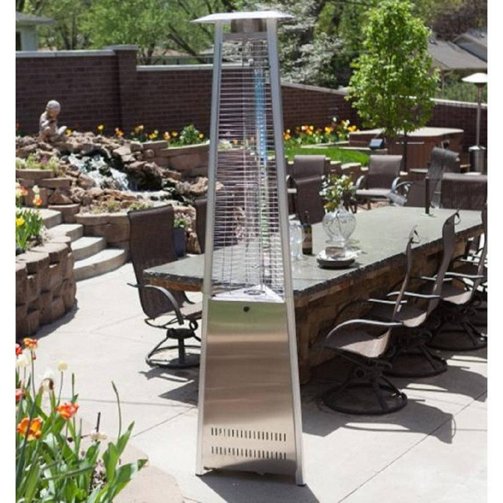 Image of Commercial Glass Tube Portable Heater - Stainless Steel - AZ Patio Heaters