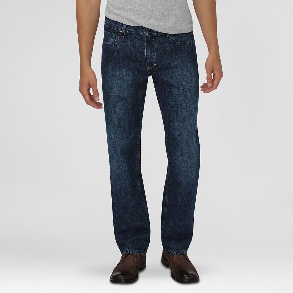 Dickies Men's Relaxed Fit Straight Leg 5-Pocket Jeans Tint Indigo 32X32, Vintage Tint Denim