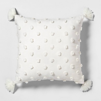 "18"" x 18"" Texture Dot Throw Pillow Sour Cream - Hearth & Hand™ with Magnolia"