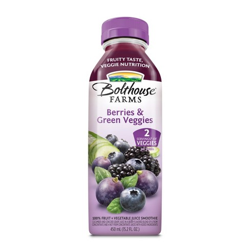 Bolthouse Farms Berries & Green Veggies Fruit Juice Smoothie 15.2 oz - image 1 of 5