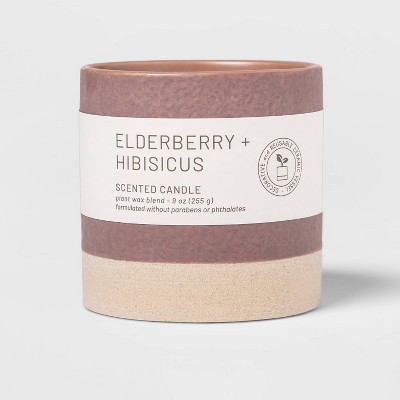Wellness Ceramic Elderberry and Hibiscus Candle - Project 62™
