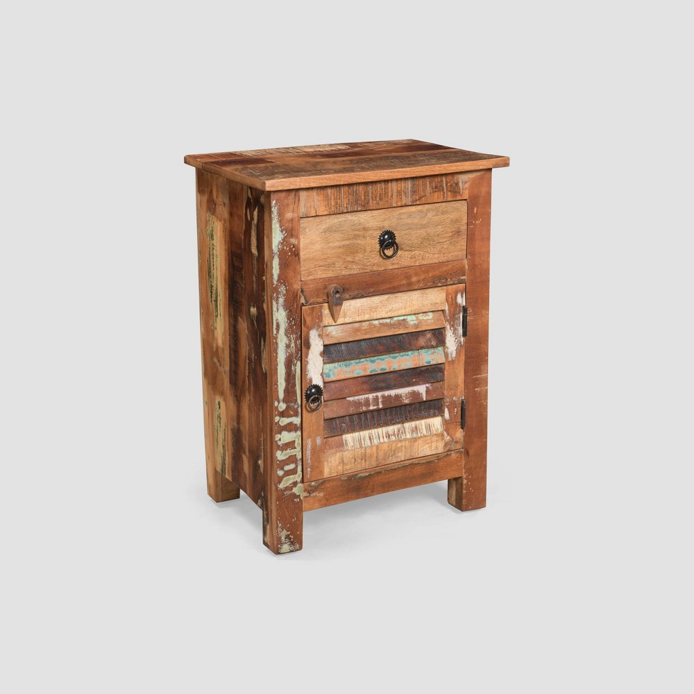 Image of Laveer Wooden Side Table Brown - Christopher Knight Home
