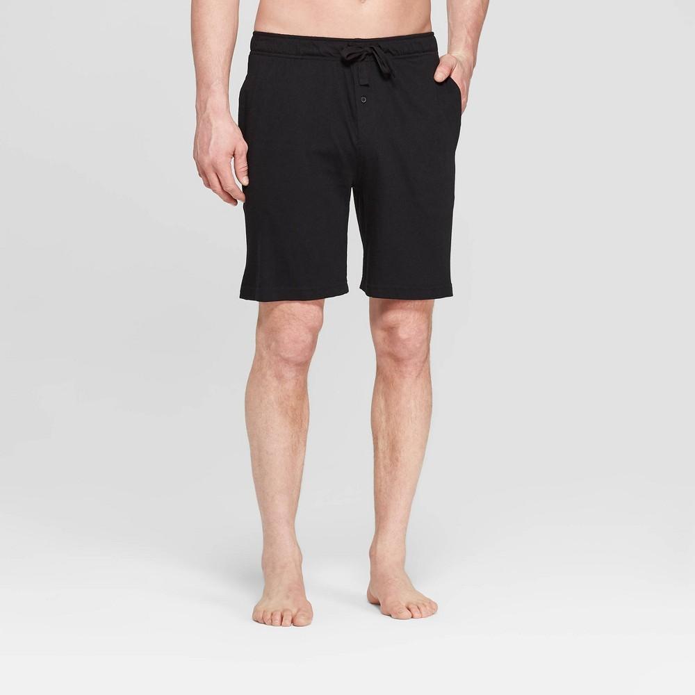 "Image of ""Men's 9"""" Knit Pajama Shorts - Goodfellow & Co Black L, Size: Large"""