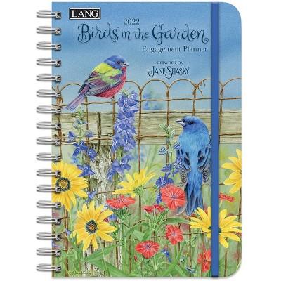 2022 Engagement Planner Spiral Birds in the Garden - Lang